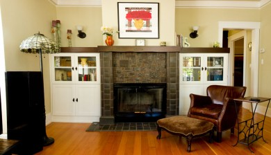 fireplace surround with alder mantel cap