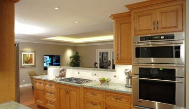 galley kitchen cabinets oven