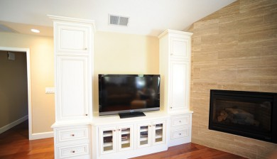 custom built-in entertainment center