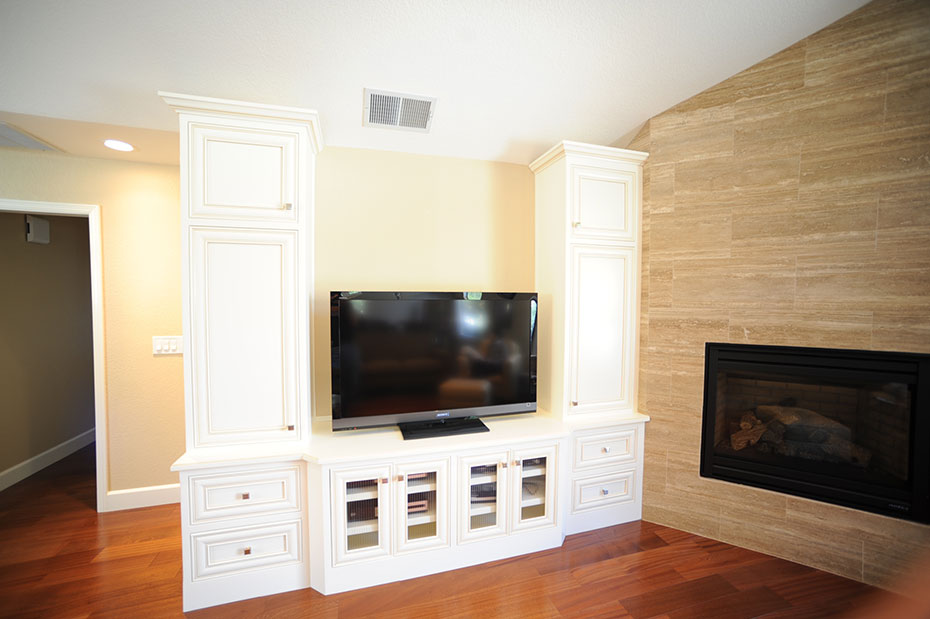 White Wood Entertainment Center Part - 41: Custom Built-in Entertainment Center